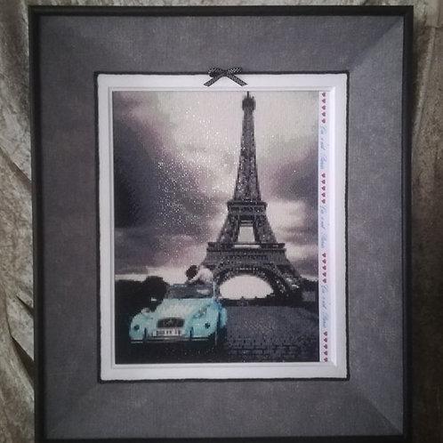 2CV Parisienne en diamant painting 50 x 70 cm