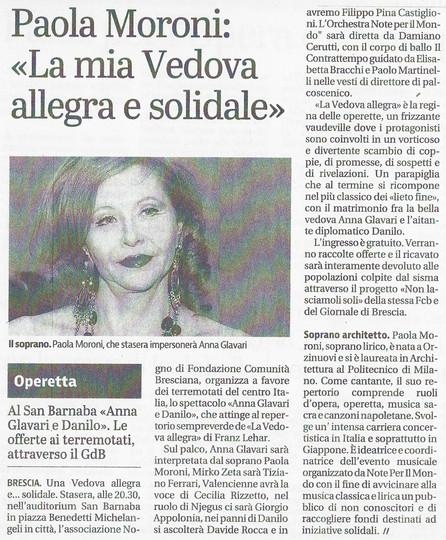 15 ottobre 2016 Giornale di Brescia