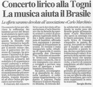 12 dicembre 2001 Giornale di Brescia