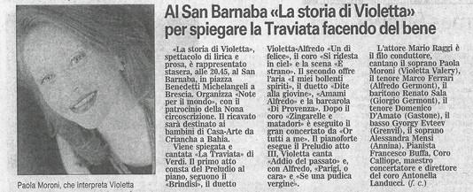 15 dicembre 2007 Giornale di Brescia