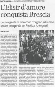 6 ottobre 2009 Giornale di Brescia