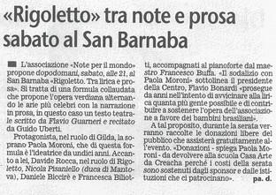 10 dicembre 2009 Giornale di Brescia