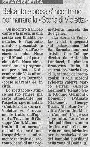 9 dicembre 2007 Giornale di Brescia