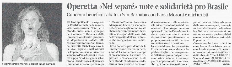 25 novembre 2011 Giornale di Brescia