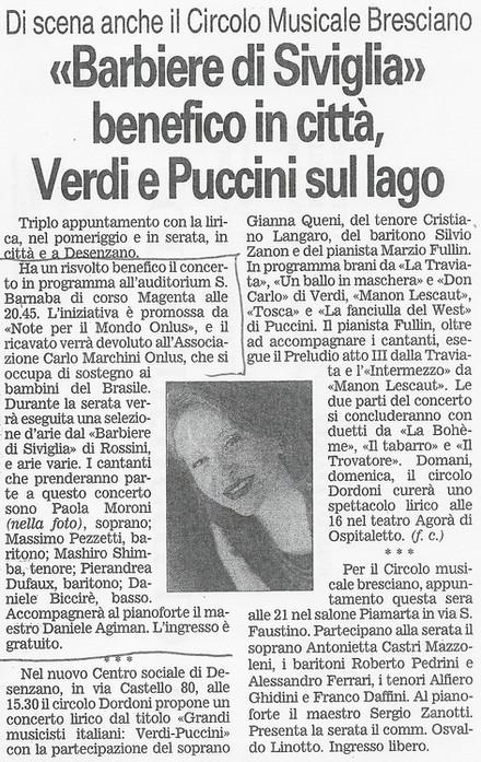 29 novembre 2003 Giornale di Brescia