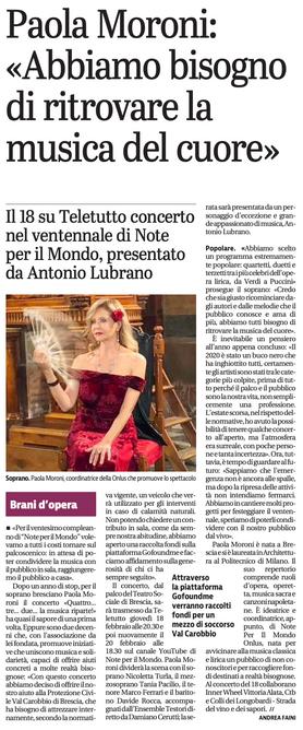 16 febbraio 2021 Giornale di Brescia