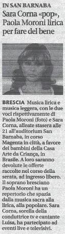 11 dicembre 2010 Giornale di Brescia