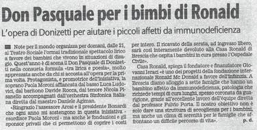 1 ottobre 2010 Giornale di Brescia