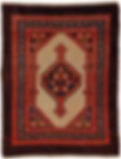 "a fine antique Persian camel hair Hamadan Ca. 1900 in size 2'11"" x 3'10"""