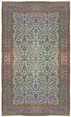 "Fine antique Persian Lavar Kirman, 9'11"" x 16'5"""