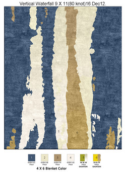 Color Plate of Vertical Waterfall 9 X 11(80 knot)17 Dec12.