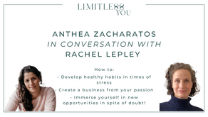 Anthea Zacharatos on turning a side hustle into a business and developing positive habits.