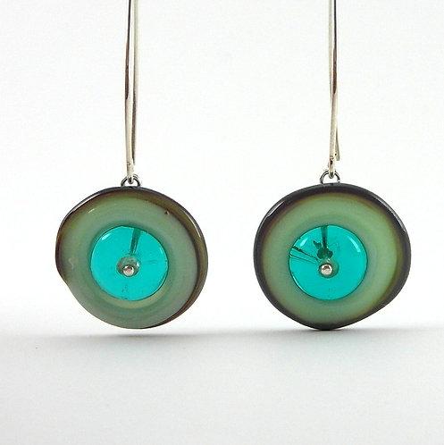 dangle glass earrings