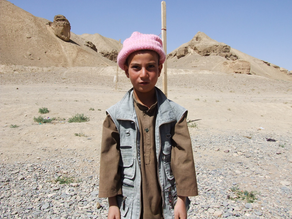 Mustafa, an Afghan boy at the Dragon Valley Orphanage, near Bamiyan, watched his parents being killed by the Taliban.