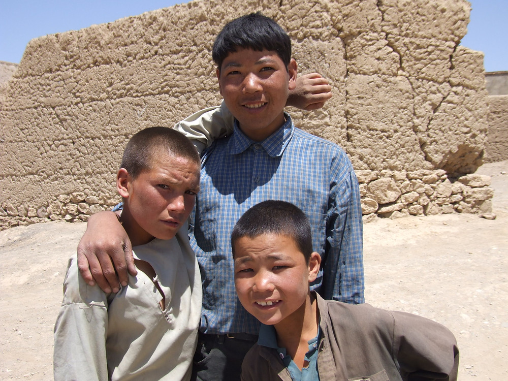The Bamiyan Boys Club. This group of Hazara children play in the alleyways of the town.