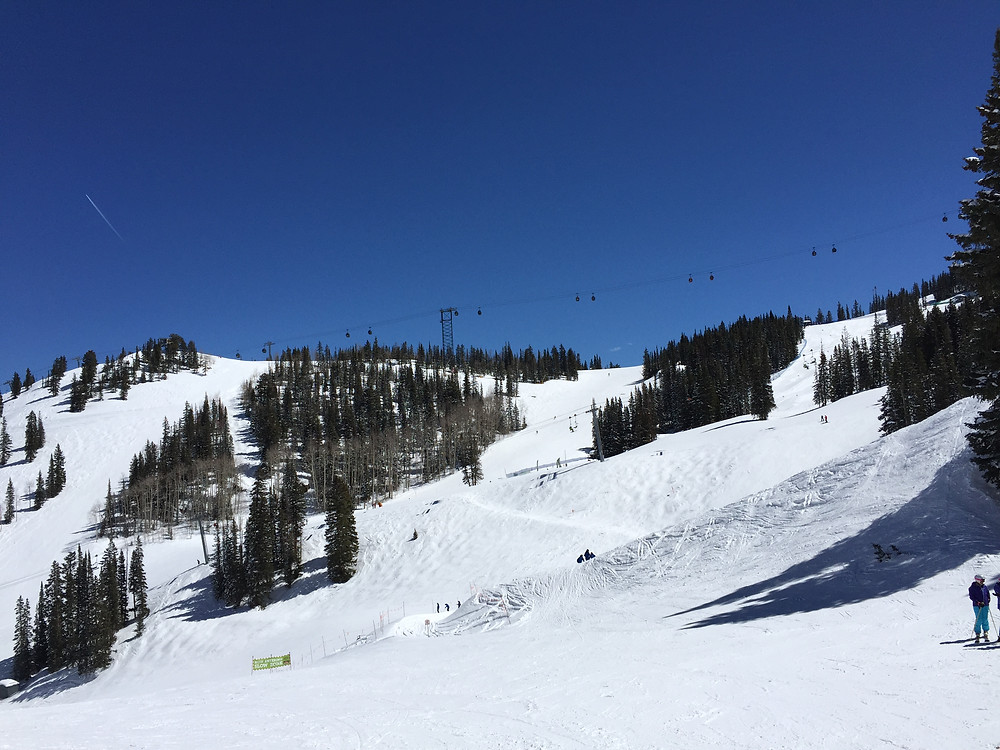 Aspen Skiing at its best, on Ajax Mountain.