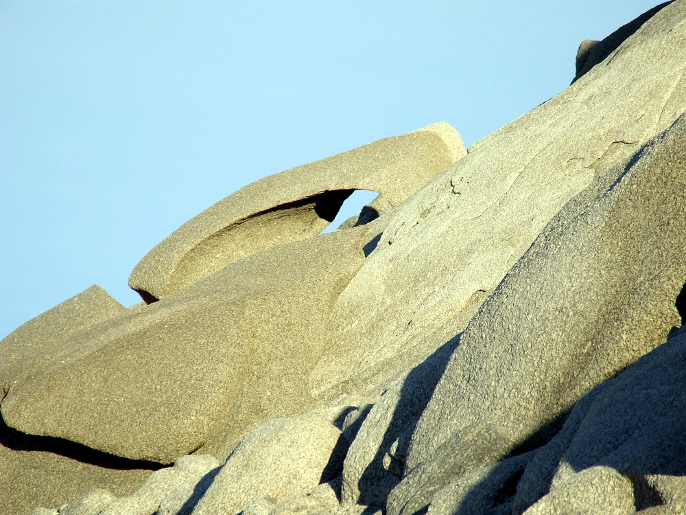 The wind erodes rocks in Antarctica, creating sculptures, almost if if by human hands.