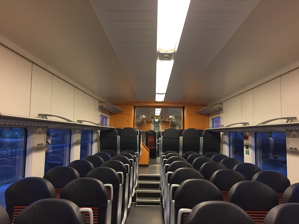 The Elektriraudtee train carriages, of the Estonian Elron company, are spacious. Modern. Warm. And always on time.