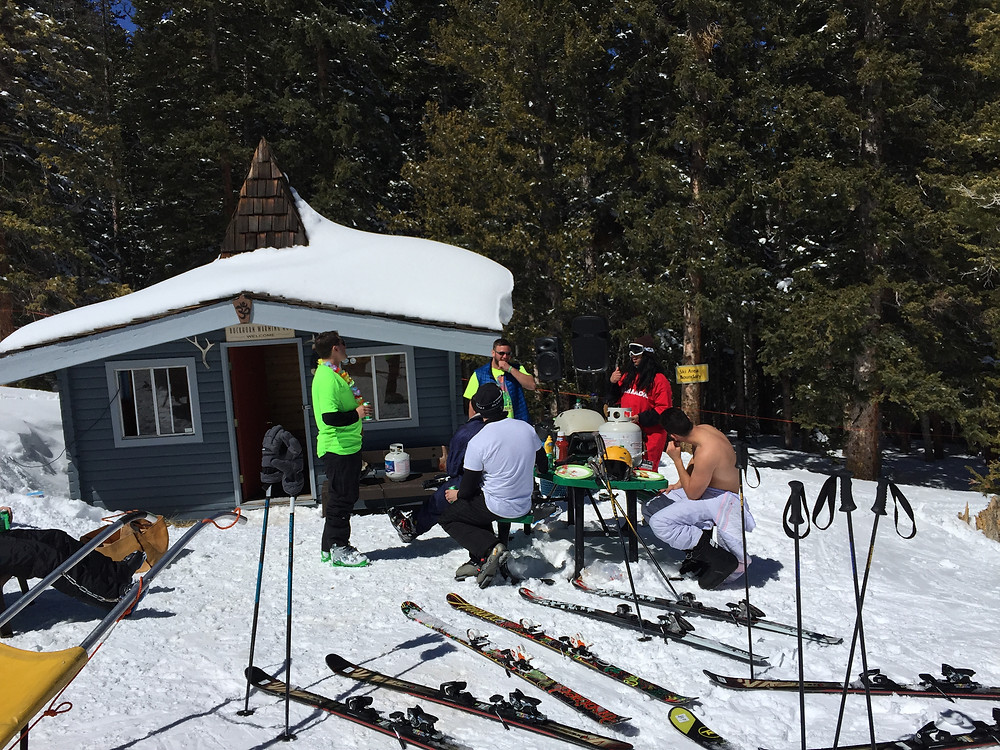 Ajax Mountain, in Aspen, has many little places to stop, rest, eat and drink, while telling stories about how you conquered this skiers paradise