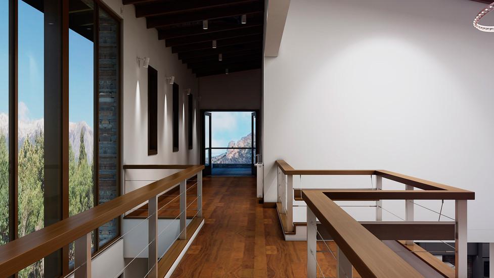 Diseño de pasallio que balconea a Planta Baja