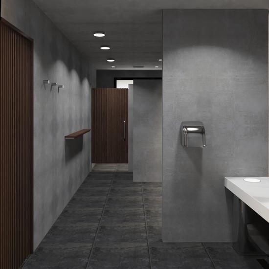 Diseño de baño de hombres