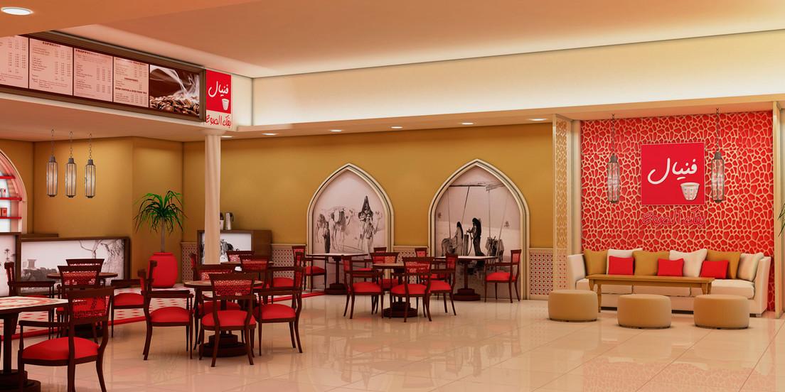 Diseño Interior de Cafeteria