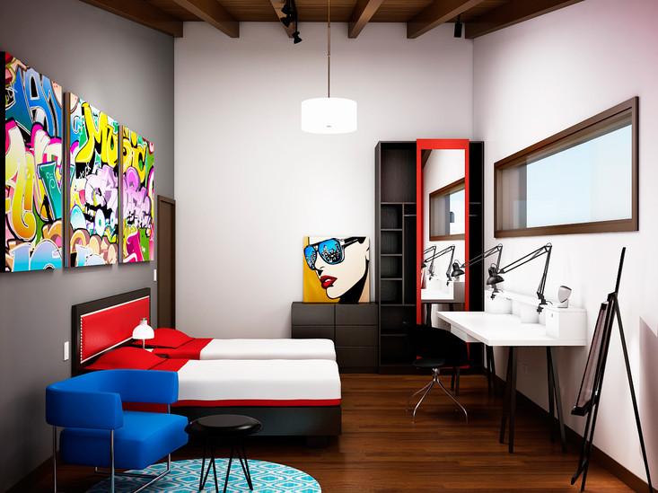 Diseño tematico de Habitacion de invitados