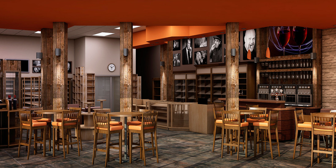Diseño de area de Bar
