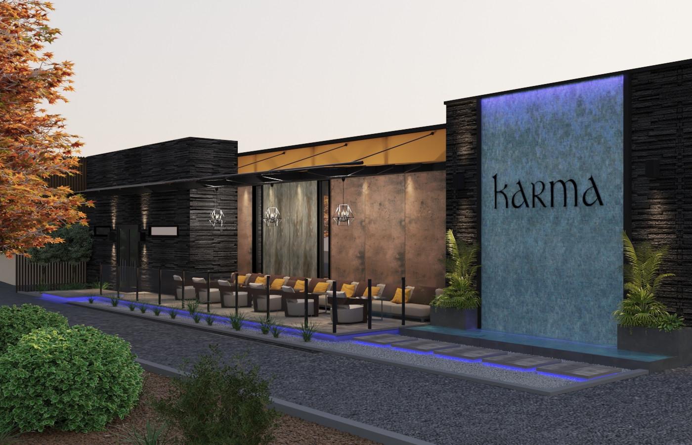 Diseño de patio abierto