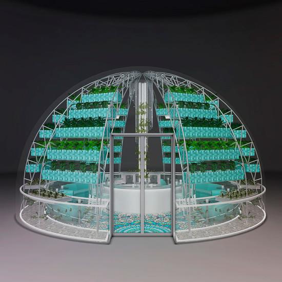 Diseño de Exterior con Vidrio