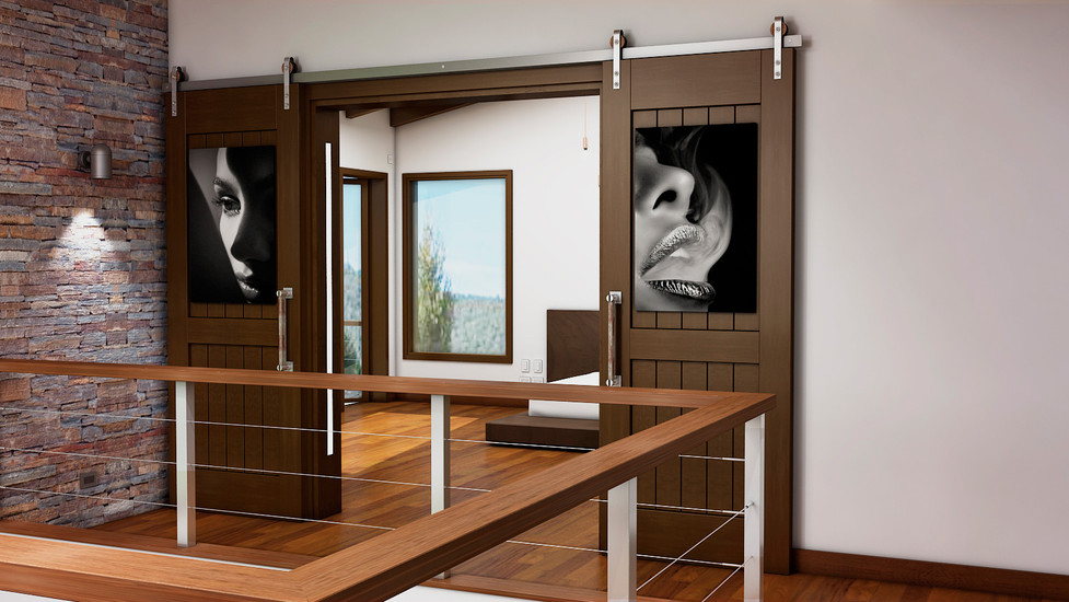Diseño de puertas corredizas estilo Barn Doors