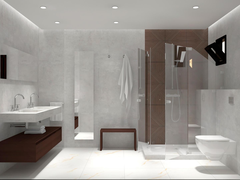 Diseño de Baño de huespedes
