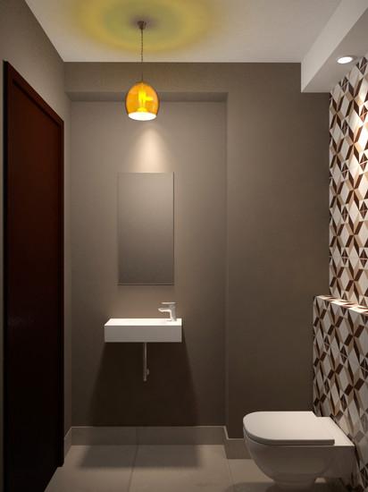 Diseño de toilette de terraza