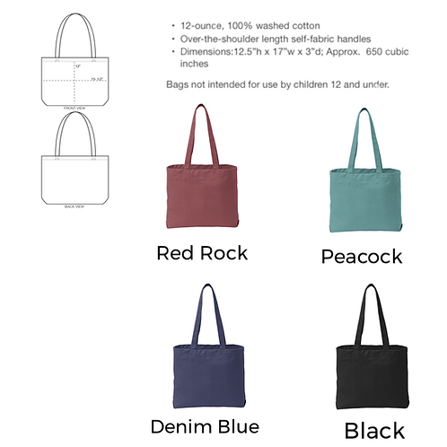 Color Wash Tote Bag - Personalized