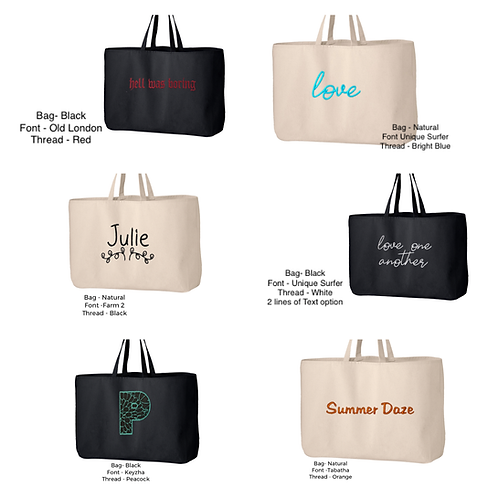 Personalized Jumbo Tote Bag