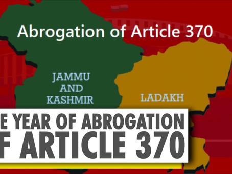 ABROGATION OF ARTICLE 370 OF THE INDIAN CONSTITUTION: AN ANALYTICAL STUDY