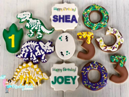 Dino and Donut Birthday Set