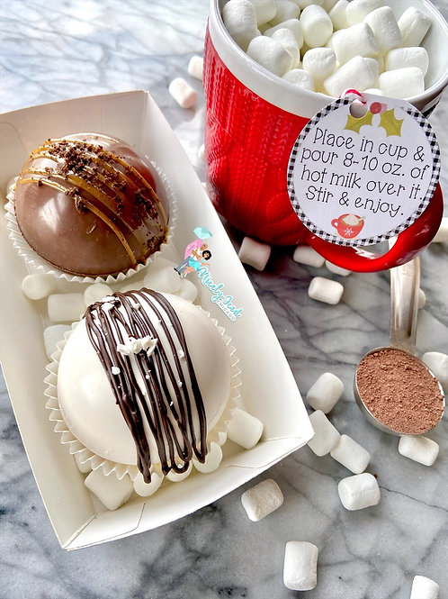 2 Pack Hot Cocoa Bombs