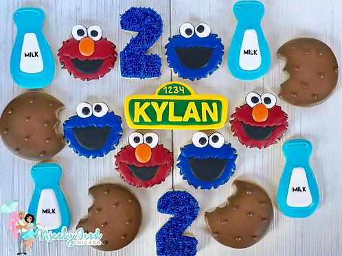 Cookie Monster + Elmo Cookie Set