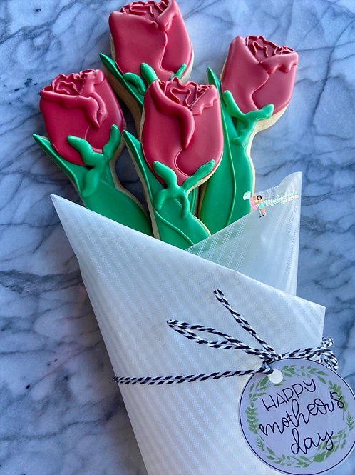 """Rose"" Cookie Bouquet"
