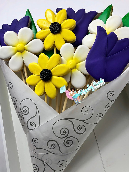 Mother's Day Cookie Stick Flower Bouquet