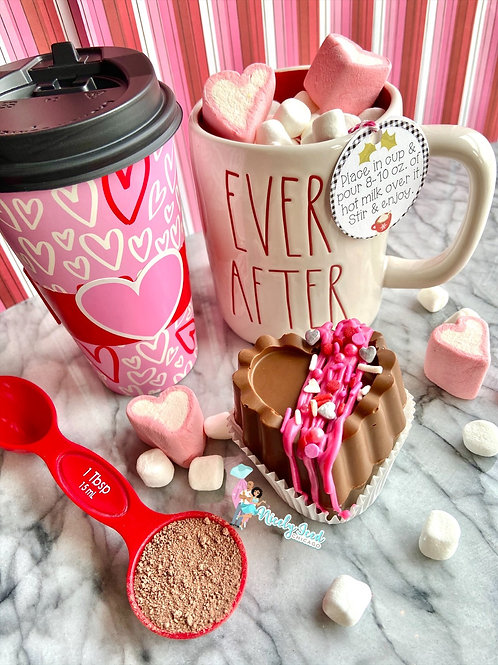 Chocolate Covered Strawberry Hot Cocoa Bomb