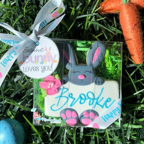 His/Hers Bunny Name Plaque