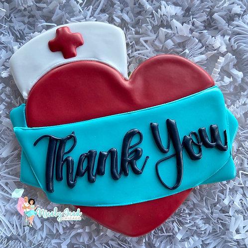 """""""Thank You"""" Nurse Jumbo Heart"""
