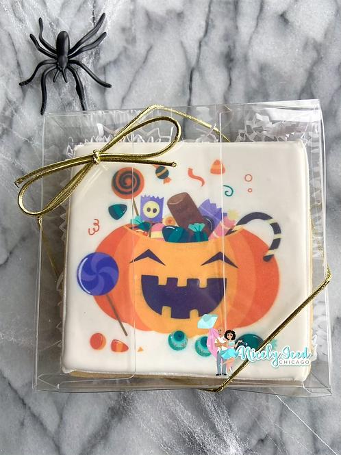 Trick or Treat bag cookie