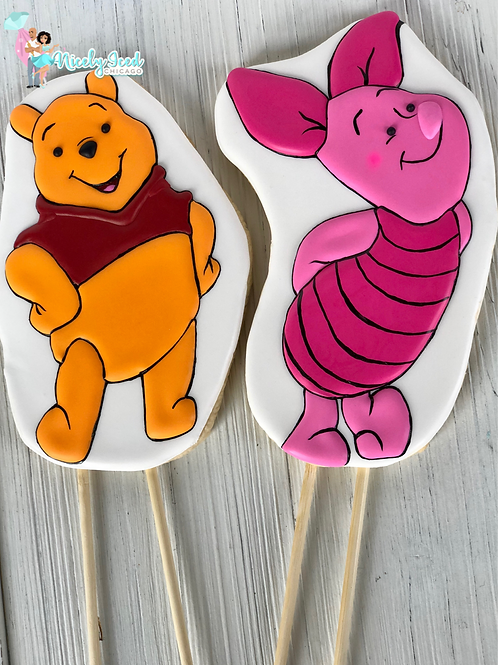 Pooh/Piglet Cookie Toppers