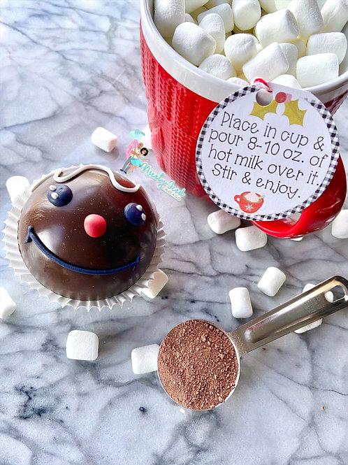 "Dark Chocolate ""Gingerbread Man"" Cocoa Bomb"