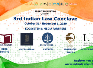 3rd Indian Law Conclave by Adhrit Foundation from 31 October - 1 November 2020 [Register Now]
