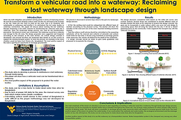 Transform a vehicular road into a waterway: Reclaiming a lost waterway through landscape design