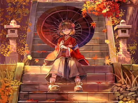 anime artwork - shrine